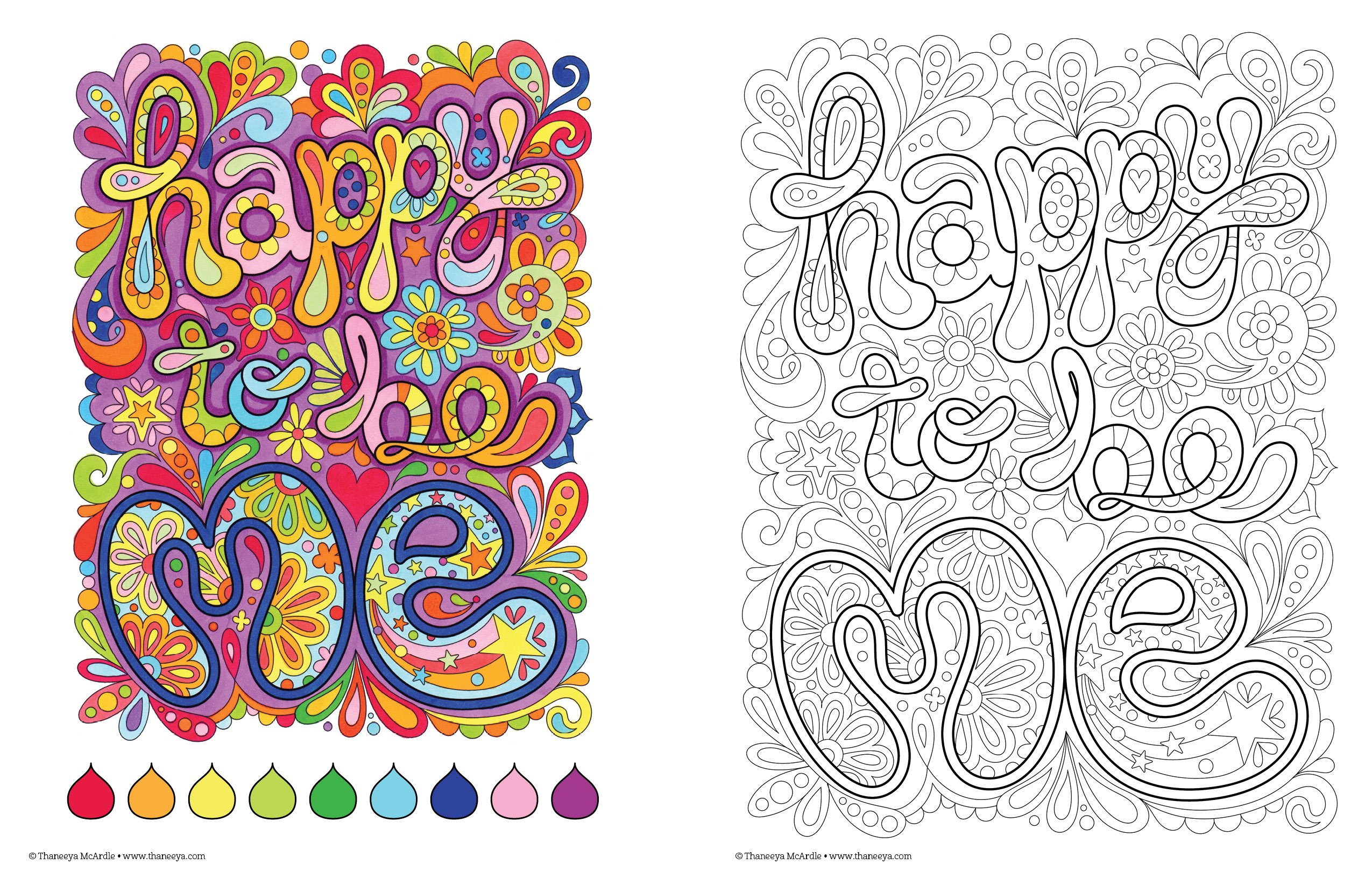 Good Vibes Coloring Book Is Fun Amazonin Thaneeya McArdle Books
