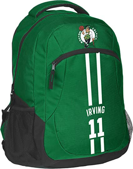 One Size Forever Collectibles NBA Unisex Action Backpack Boston Celtics Kyrie Irving #11 Action Backpack Boston Celtics