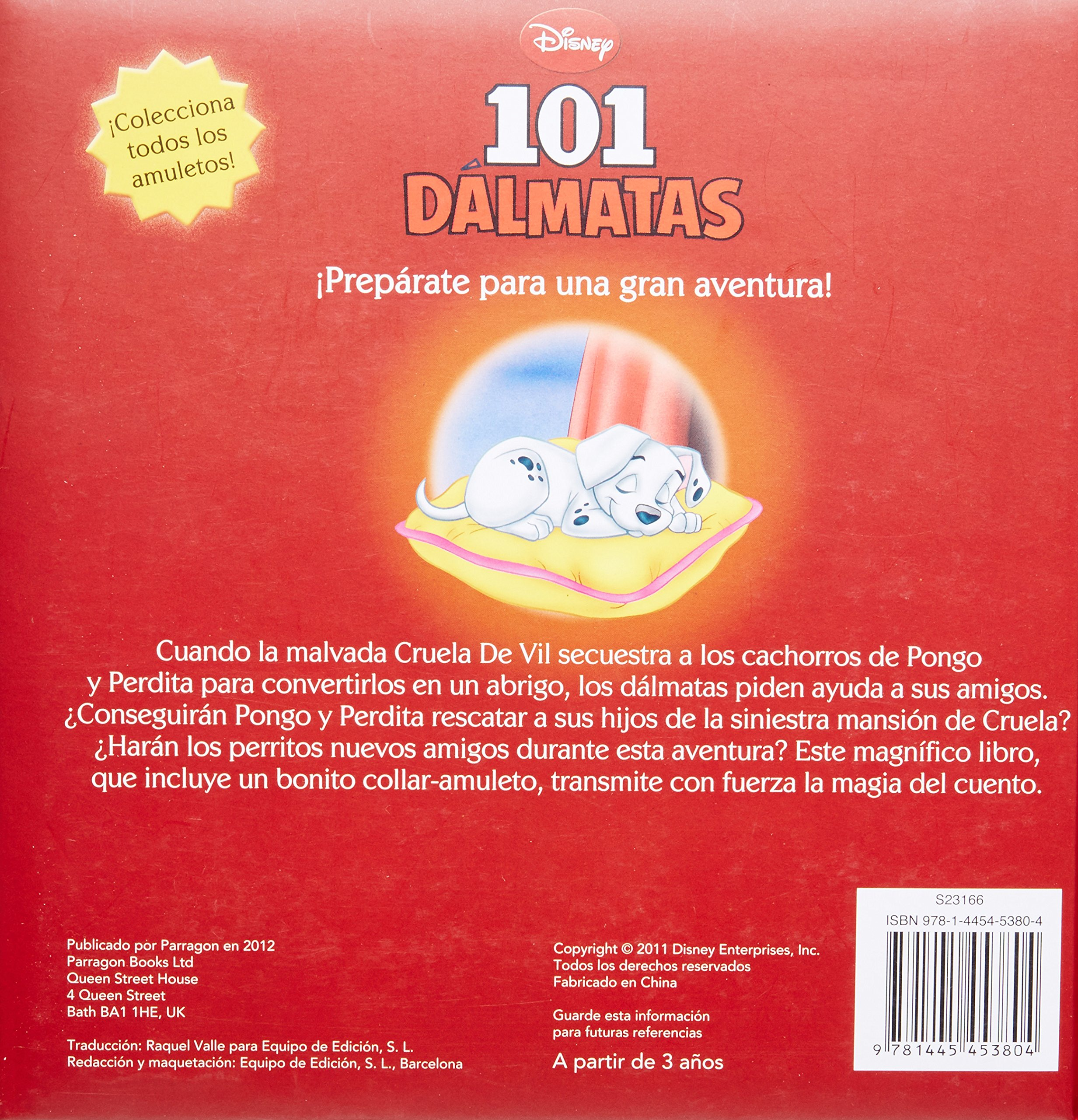Disney 101 Dalmatas con un collar-amuleto magico (Disney Charm) (Spanish Edition): Parragon Books: 9781445453804: Amazon.com: Books