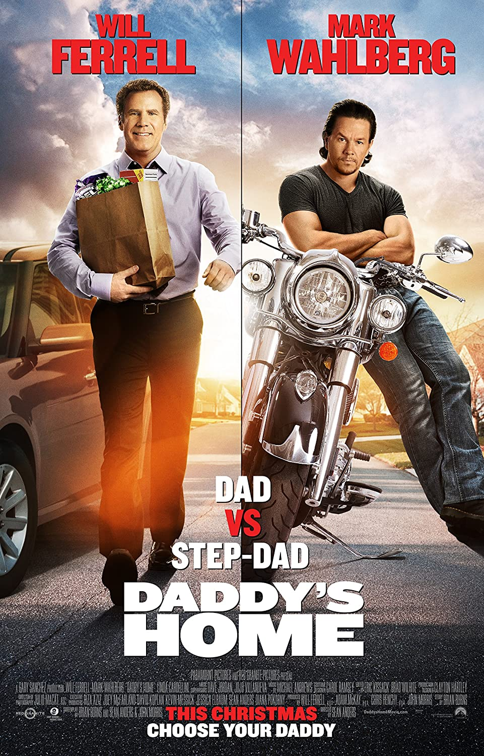 """Daddy's Home - Movie Poster (2016), Size 24 x 36"""" Inches , Glossy Photo Paper (Thick 8mil) - Mark Wahlberg, Will Ferrell"""
