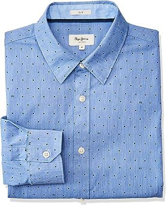 Pepe Jeans - PM306087 Gregory - Camisa Manga Larga Hombre (L): Amazon.es: Ropa y accesorios