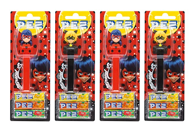 PEZ set de dispensadores Miraculous (4 dispensadores PEZ / 2 surtidos con 3 recargas de