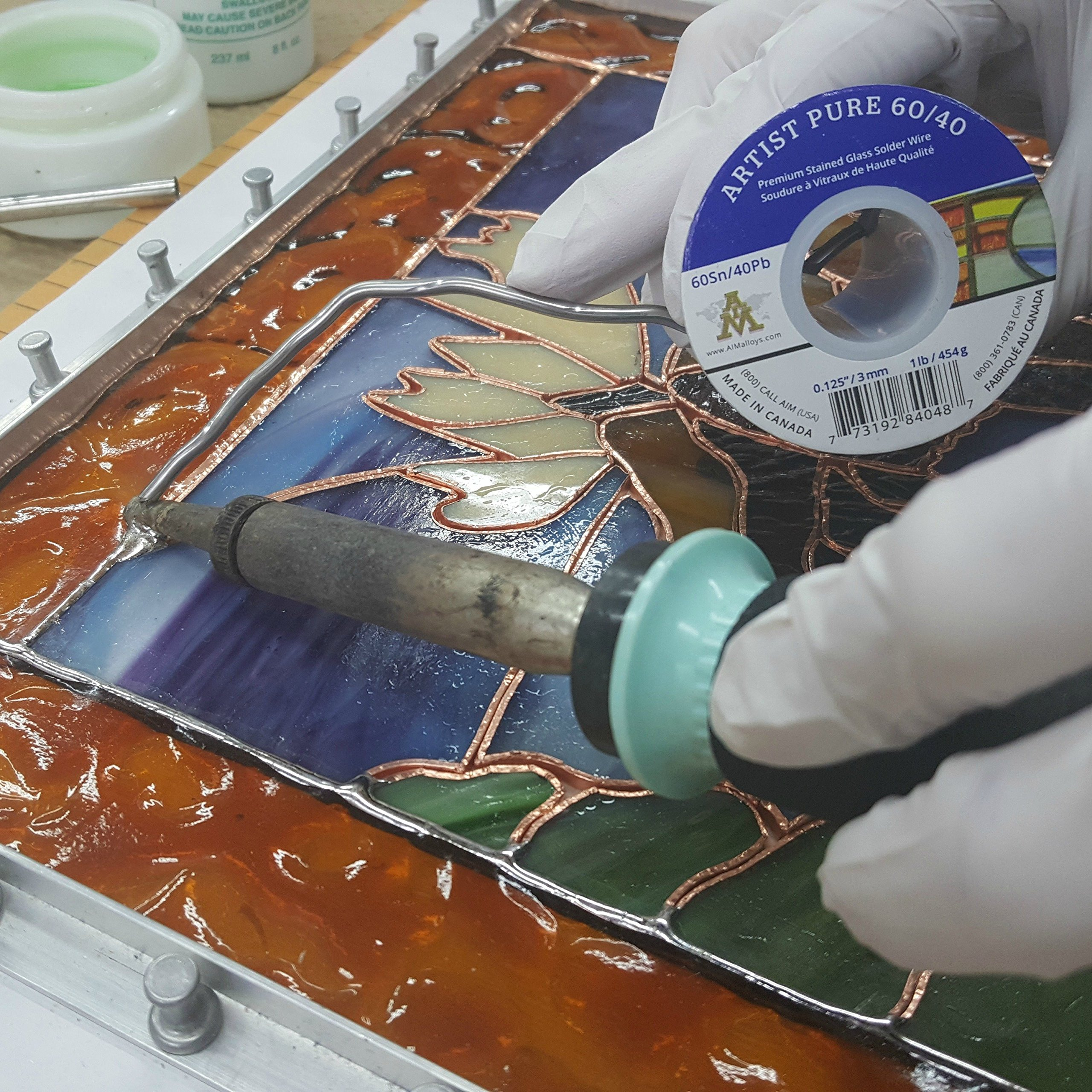 Artist Pure 60/40 Premium Stained Glass Solid Core Solder Wire, 1/8'' Diameter, 1 Pound Spool by Artist Pure (Image #3)