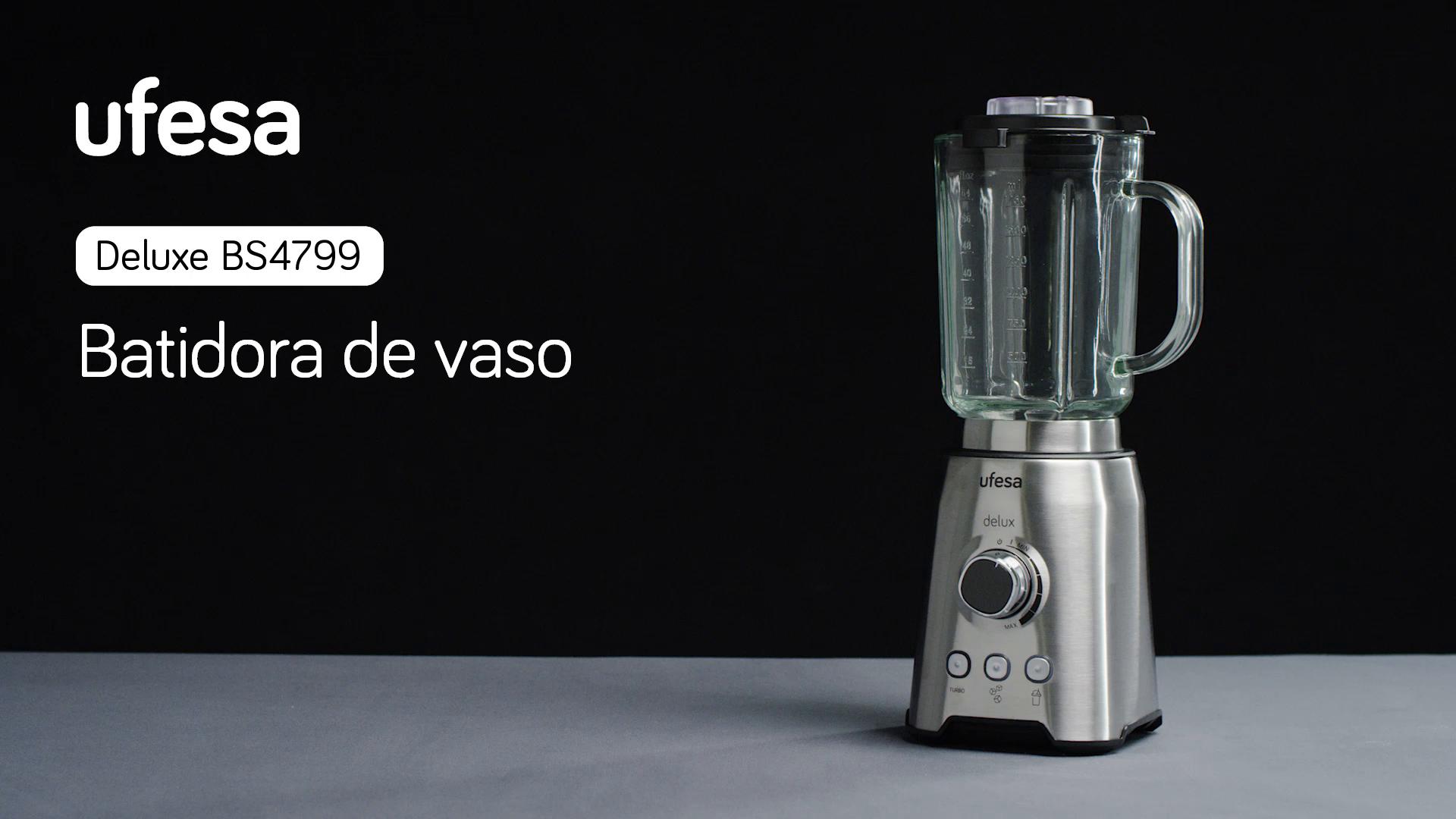 Ufesa BS4799 delux - Batidora de Vaso. 1200 W, Jarra de cristal ...