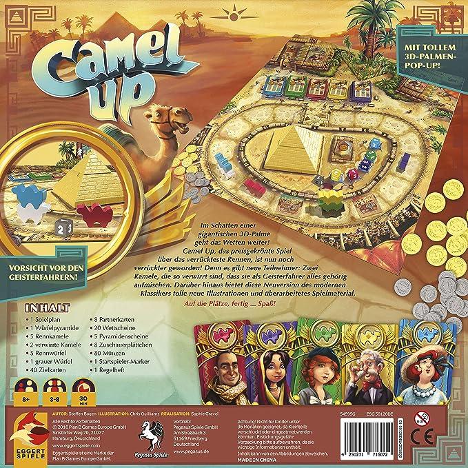 Pegasus Spiele 54595G Camel Up - Juego de Mesa (Contenido en alemán): Amazon.es: Juguetes y juegos