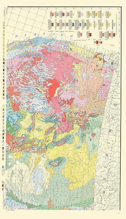 Amazon Com Topographical Map Print Northwest United States Usgs