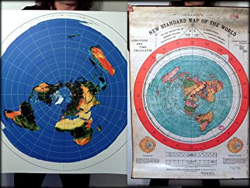 2 Flat Earth Poster Prints   Gleasons New Standard Map of the