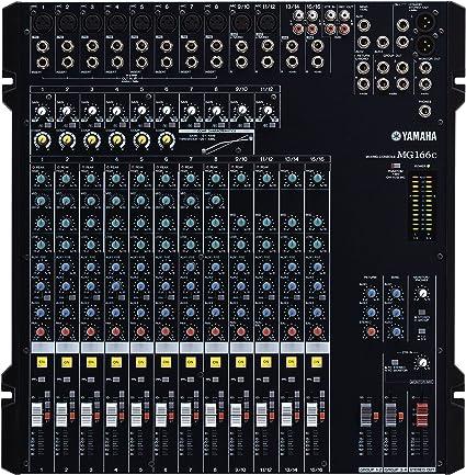 Yamaha MG 166CA - Mesa de mezclas MG166C: Amazon.es: Instrumentos ...