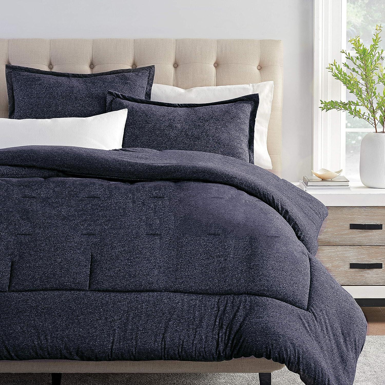 Columbia Cooling Soft Comfort 3 Piece Bedding Set | Value Bundle Includes 1 Comforter & 2 Standard Pillow Shams | Temperature Regulating | Omni-Wick, Moisture Wicking Technology | Full/Queen - Blue