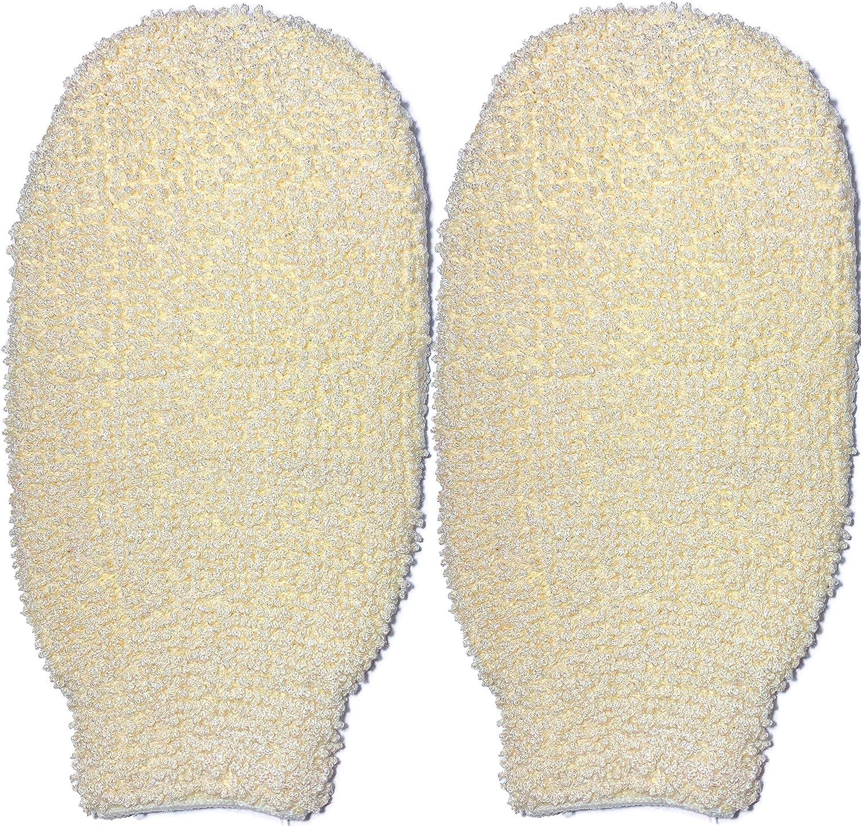 Manoplas exfoliantes de algodón natural, 2 unidades, esponja de baño para eliminar la piel muerta, limpieza profunda y revitalizar tu piel, lavable a máquina y seca, doble cara disponible: Amazon.es: Belleza
