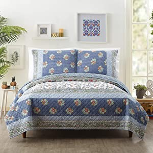Jessica Simpson TALCA Quilt, Full/Queen, Blue