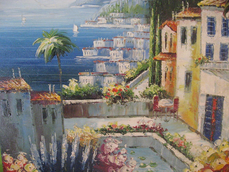 Aceite de pintura paisaje Hotel Anlage Alicante de Galerie. Mano ...