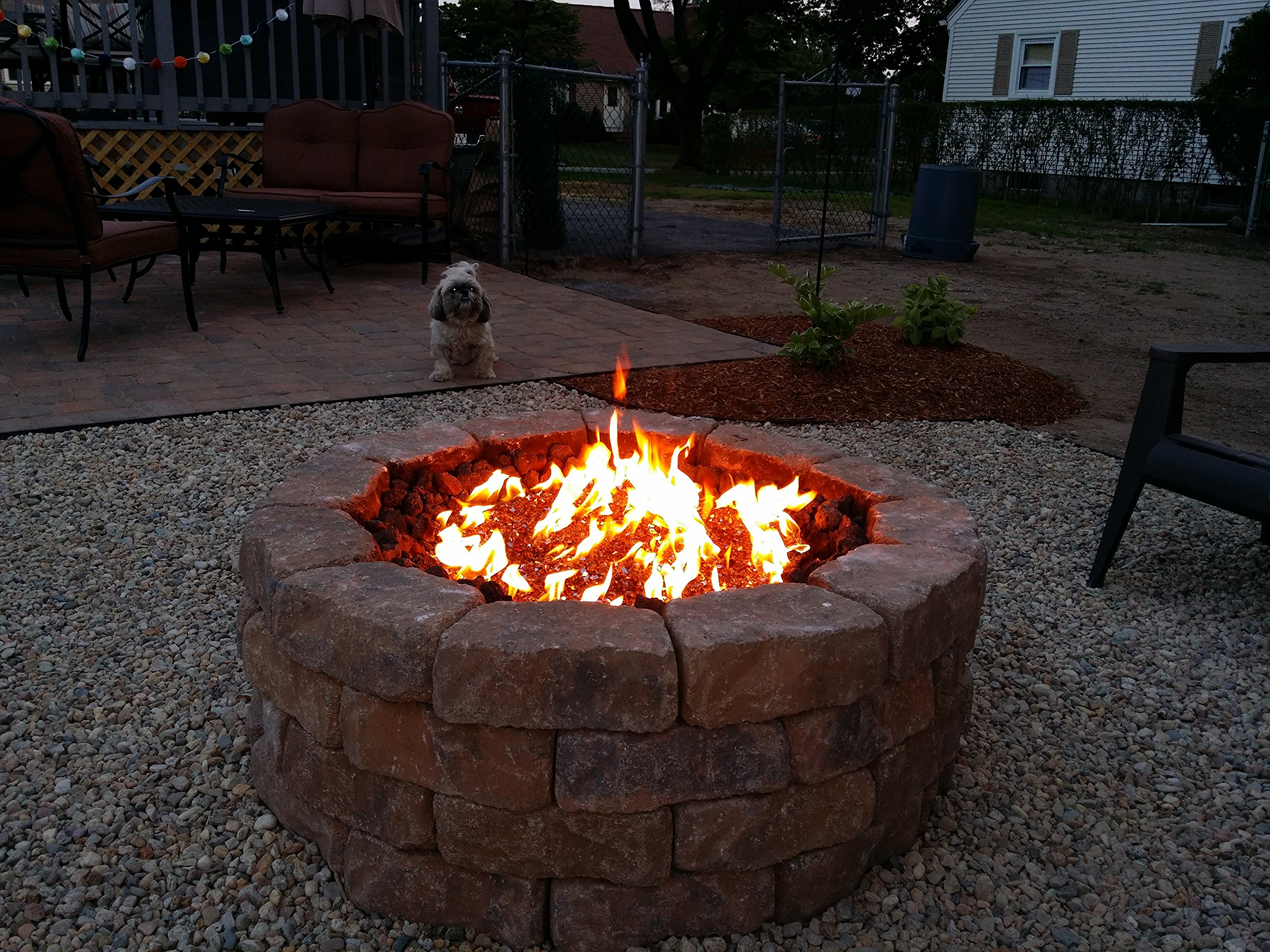 FR24CK+: Complete 24'' DELUXE Fire Pit Kit 316 Stainless Convert Existing Wood Fire Pit to Propane; Lifetime Burners all 316 Stainless (not Lessor 304). See EasyFirePits.com Gallery!