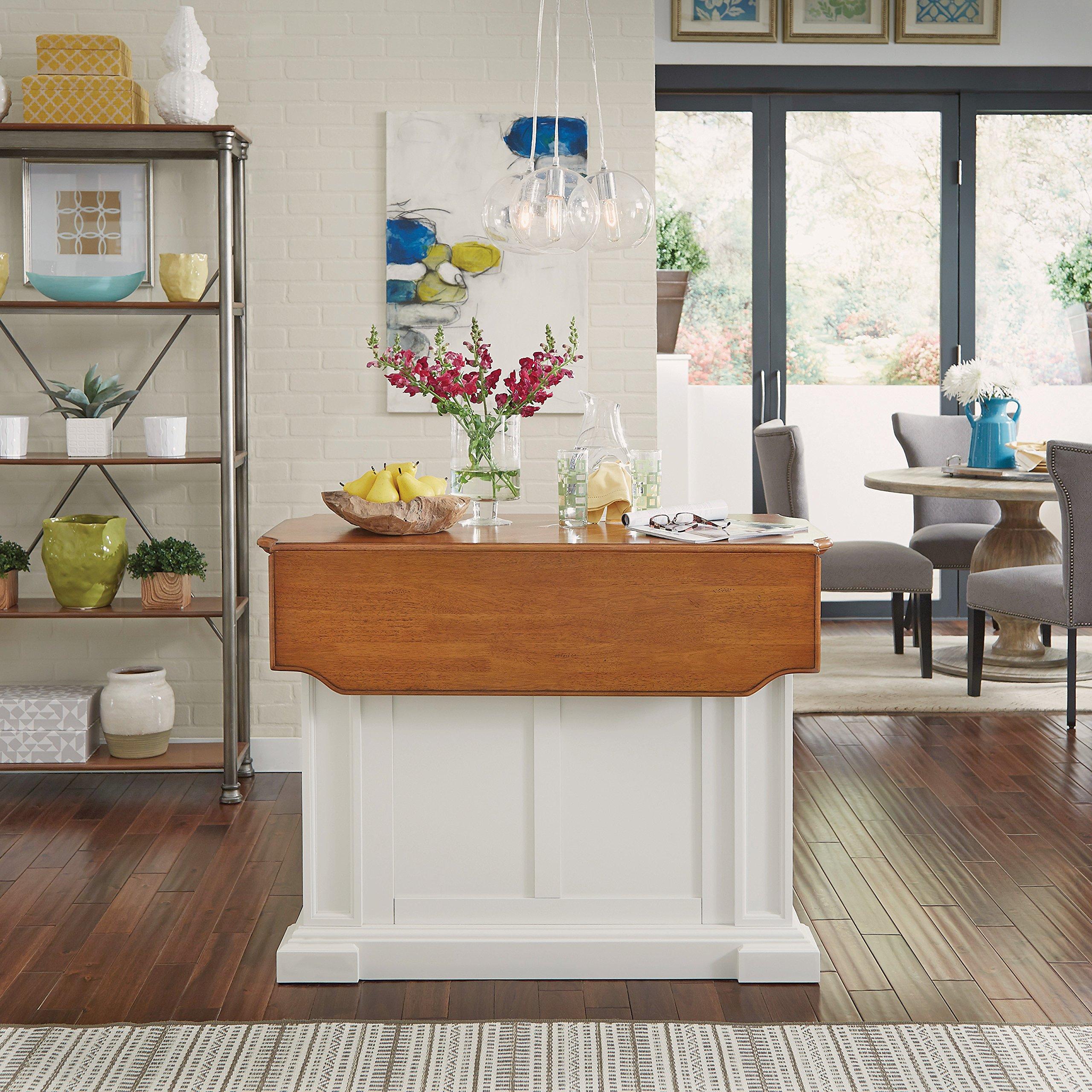 Americana White & Distressed Oak Kitchen Island by Home ...