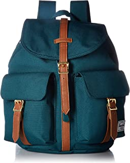 97ef12f3c5b Herschel Dawson X-Small Backpack Deep Teal Tan Synthetic Leather One Size
