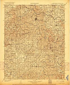 "Map Poster - Eureka Springs, Arkansas (1901), 1:125000 Scale, 24""x20"", Gloss Finish"