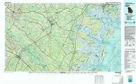 Map Of Jesup Georgia.Amazon Com Yellowmaps Jesup Ga Topo Map 1 100000 Scale 30 X 60