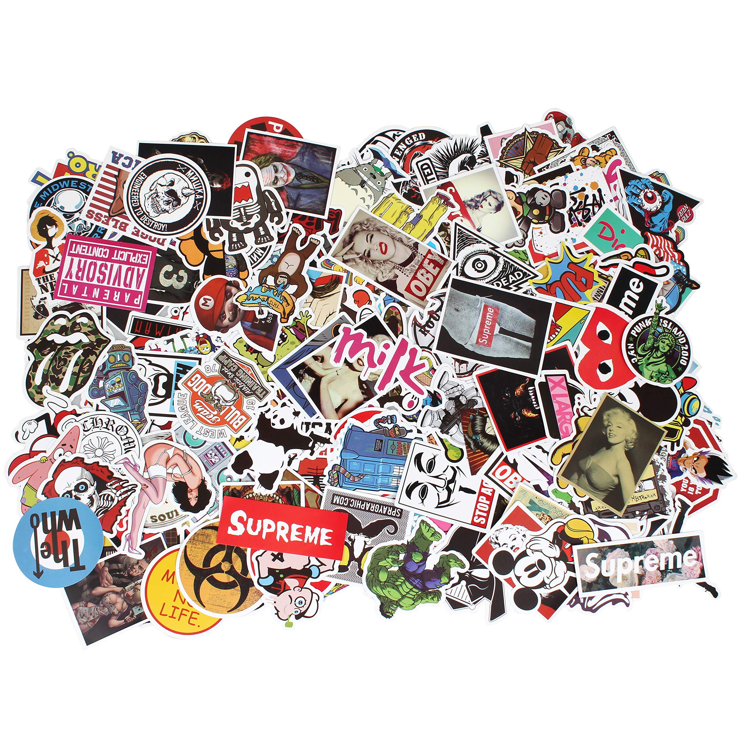Sticker Decals - 200 Pcs Laptop Vinyl Stickers car Sticker Snowboard Motorcycle Bicycle Phone Mac Computer DIY Keyboard Car Window Bumper Wall Luggage Decal Graffiti Patches