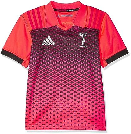 Adidas Hq TR JSY y Camiseta, Niños, Rosa (Pop/Negro/Belroj
