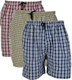 Rebizo Men's Cotton chekered Shorts (Multi-Coloured, XL) pack of 3