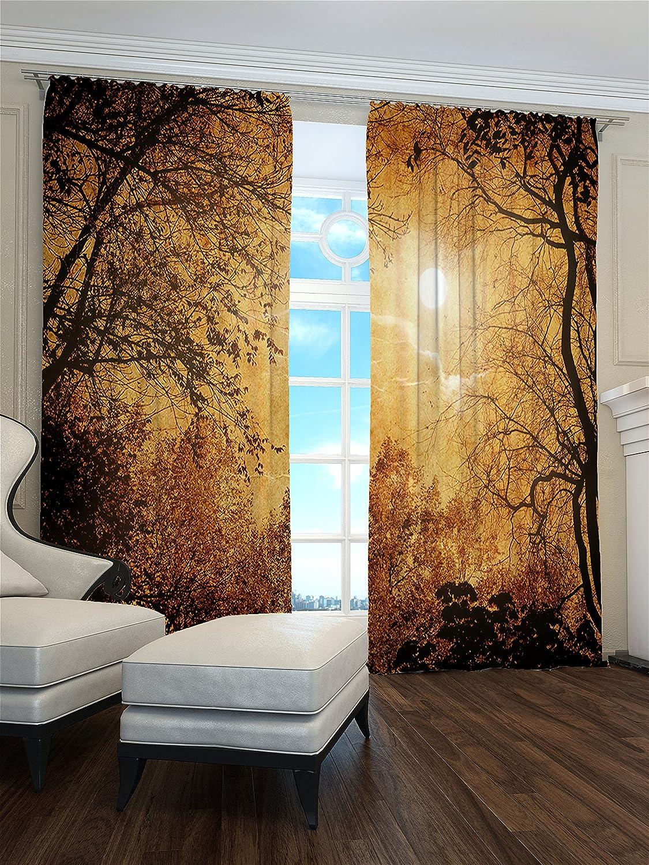 Lemare Vorhang Blickdicht Digitaldruck Indischer Sommer 2X 145x260 cm