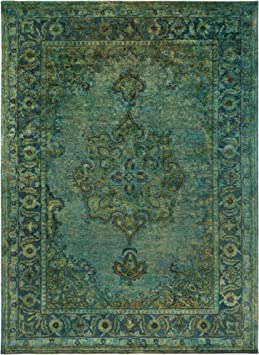 Amazon Com Surya Hand Tufted Casual Area Rug 8 By 11 Feet Olive Teal Moss Furniture Decor