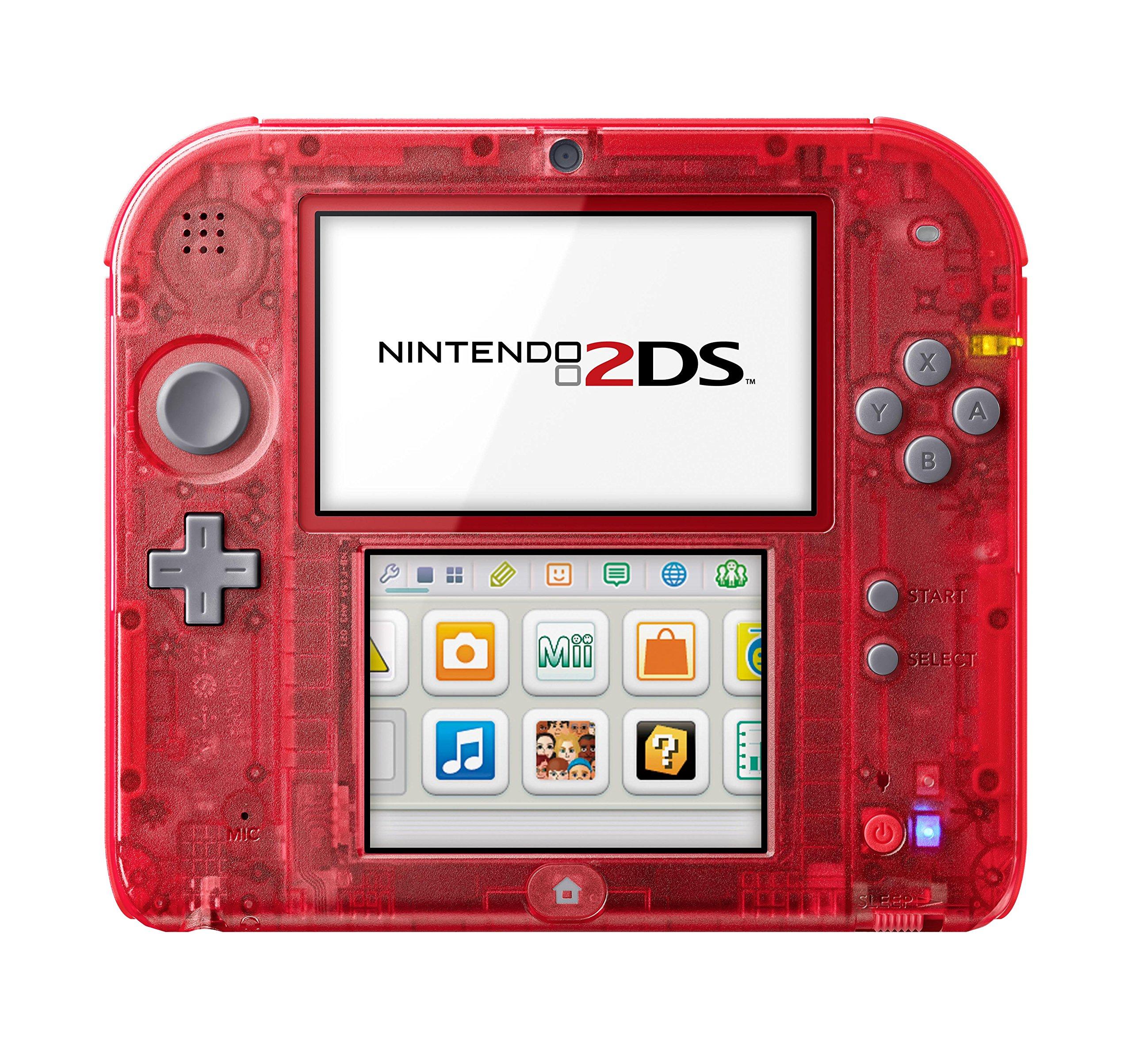 Nintendo 2DS transparent rouge
