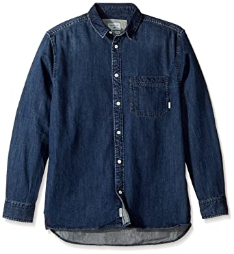 Quiksilver Hombre EQYWT03553 Camisa con Botones - Azul - Medium: Amazon.es: Ropa y accesorios