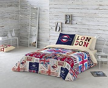 NATURALS Britain Funda nórdica, algodón, Multicolor, Cama 105 (180 ...
