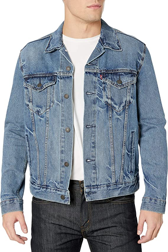 60s 70s Men's Jackets & Sweaters Levis Mens Trucker Jacket $51.64 AT vintagedancer.com
