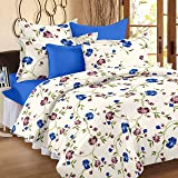 HUESLAND by Ahmedabad Cotton 2 Piece 160 TC Cotton Single Duvet Cover (Cream and Blue)