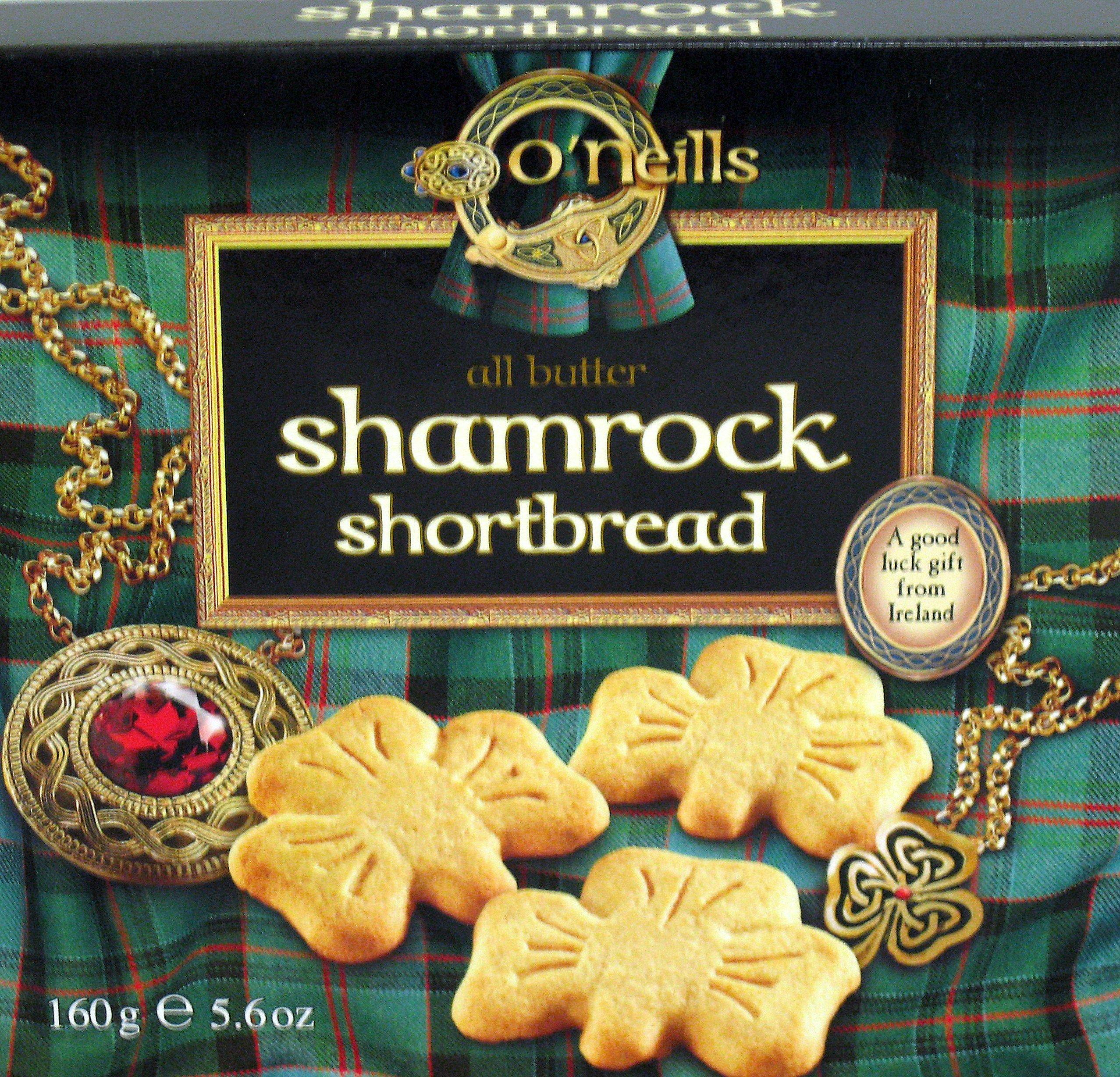 O'Neills Shamrock Shortbread Cookies, 5.6 Ounce