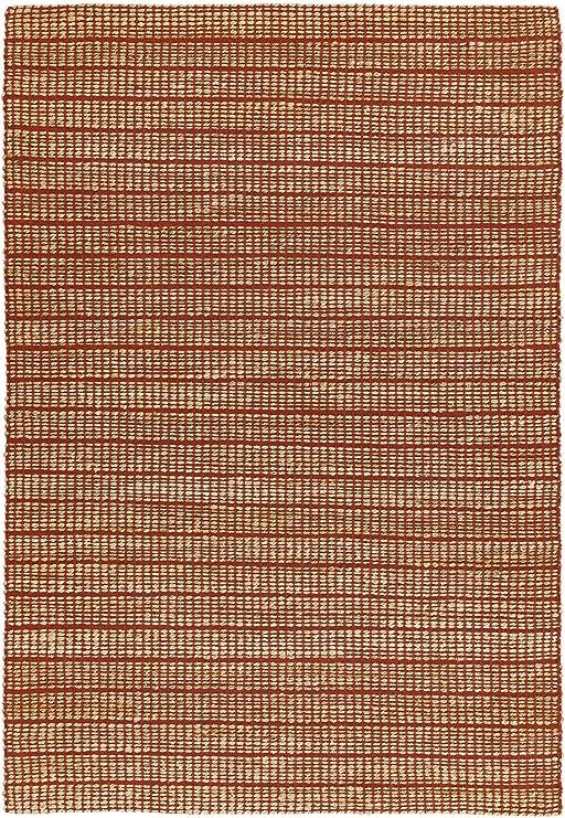NOVATREND alfombra yute y algodón Explorer, rojo, 100x150: Amazon.es: Hogar