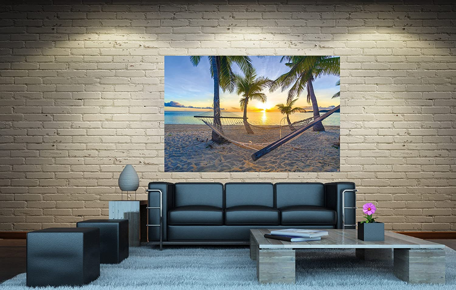 Great Art Poster Stone Wall Mural Home Decoration Modern Stones Look Slate Brick Poster Sandstone Design Decor 55 Inch x 39.4 Inch//140 cm x 100 cm