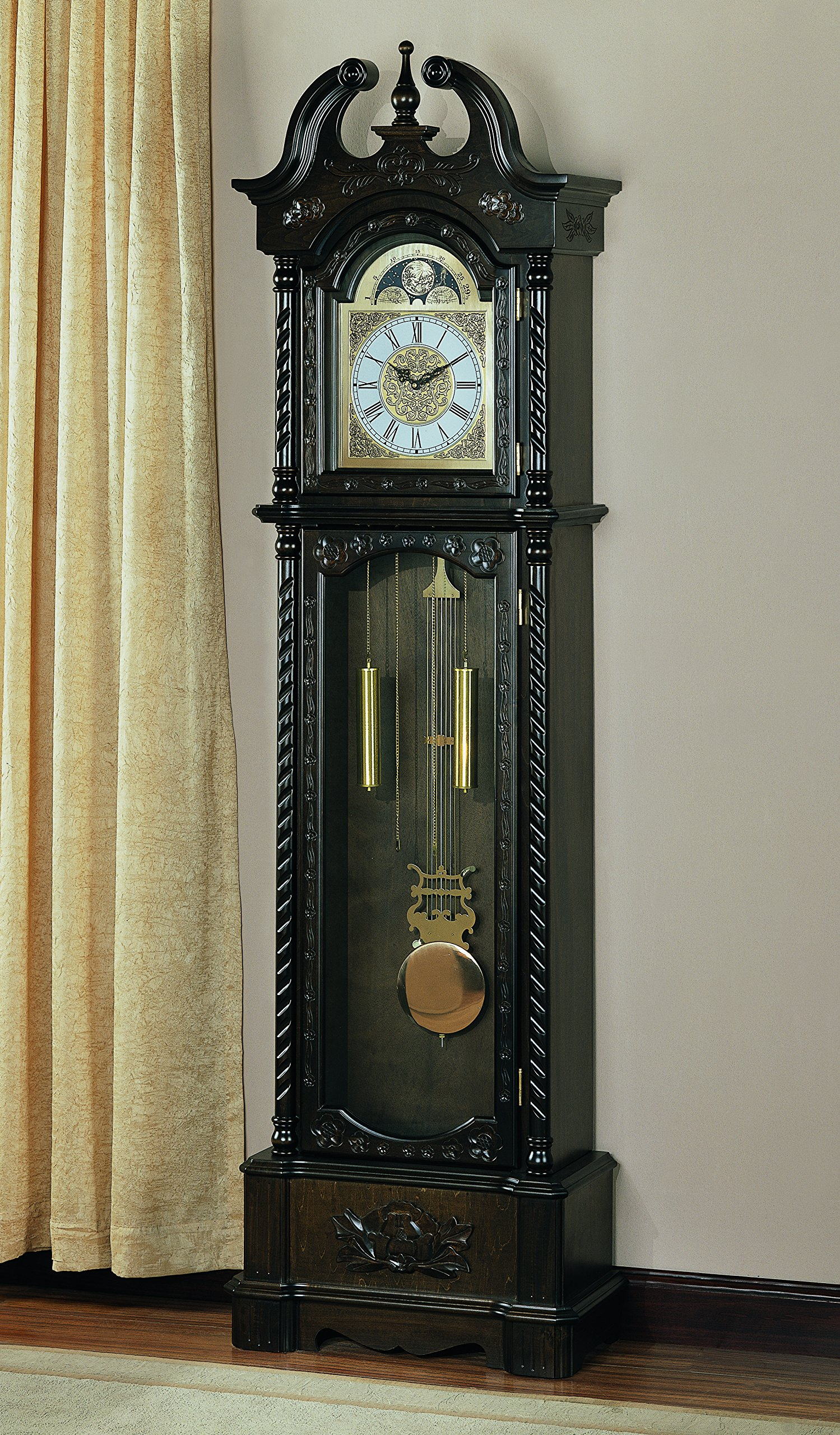 Coaster Home Furnishings Traditional Grandfather Clock with Chime by Coaster Home Furnishings