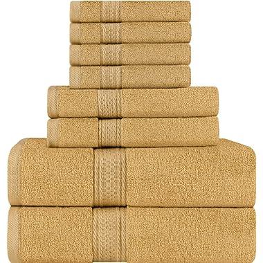 Utopia Towels 8 Piece Towel Set, Beige, 2 Bath Towels, 2 Hand Towels, and 4 Washcloths