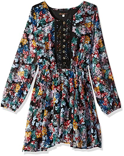 dfc4667a10da Ella Moss Girls Slim Size Flora Printed Peasant Dress