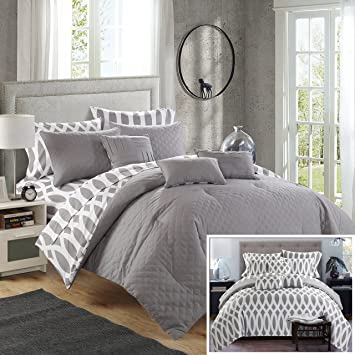 Amazon.com: Chic Home 10 Piece Comforter Set Including 4 Piece ...