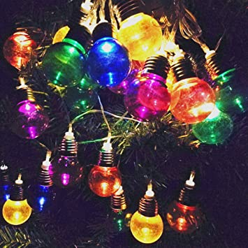 solar christmas decorations lights outdoor decorative bulb fairy string light ornaments 12 days of deals of - Solar Christmas Decorations