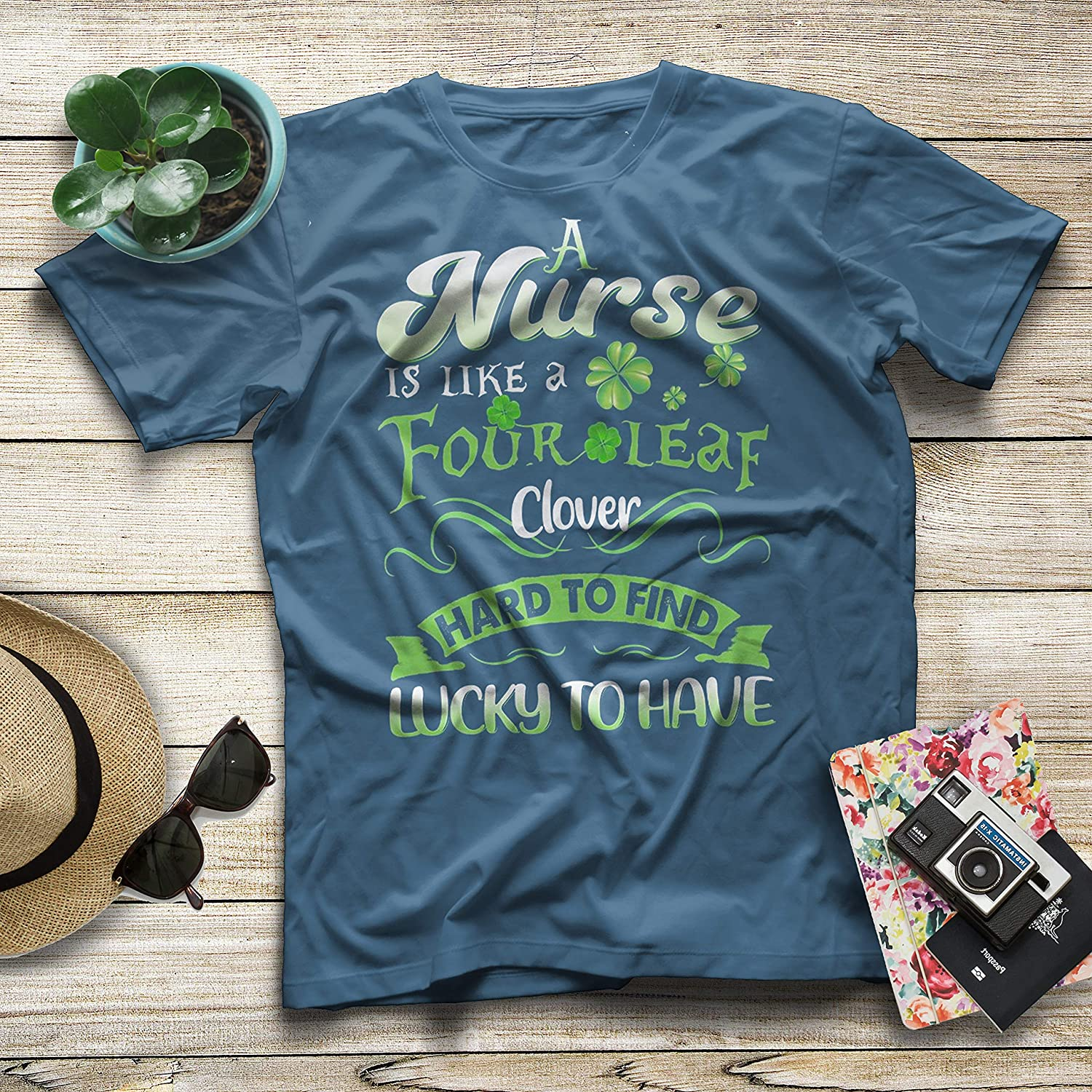 A Nurse is Like A Four Leaf Clover Hard to Find Lucky to Have Nurse T-Shirt for Mom