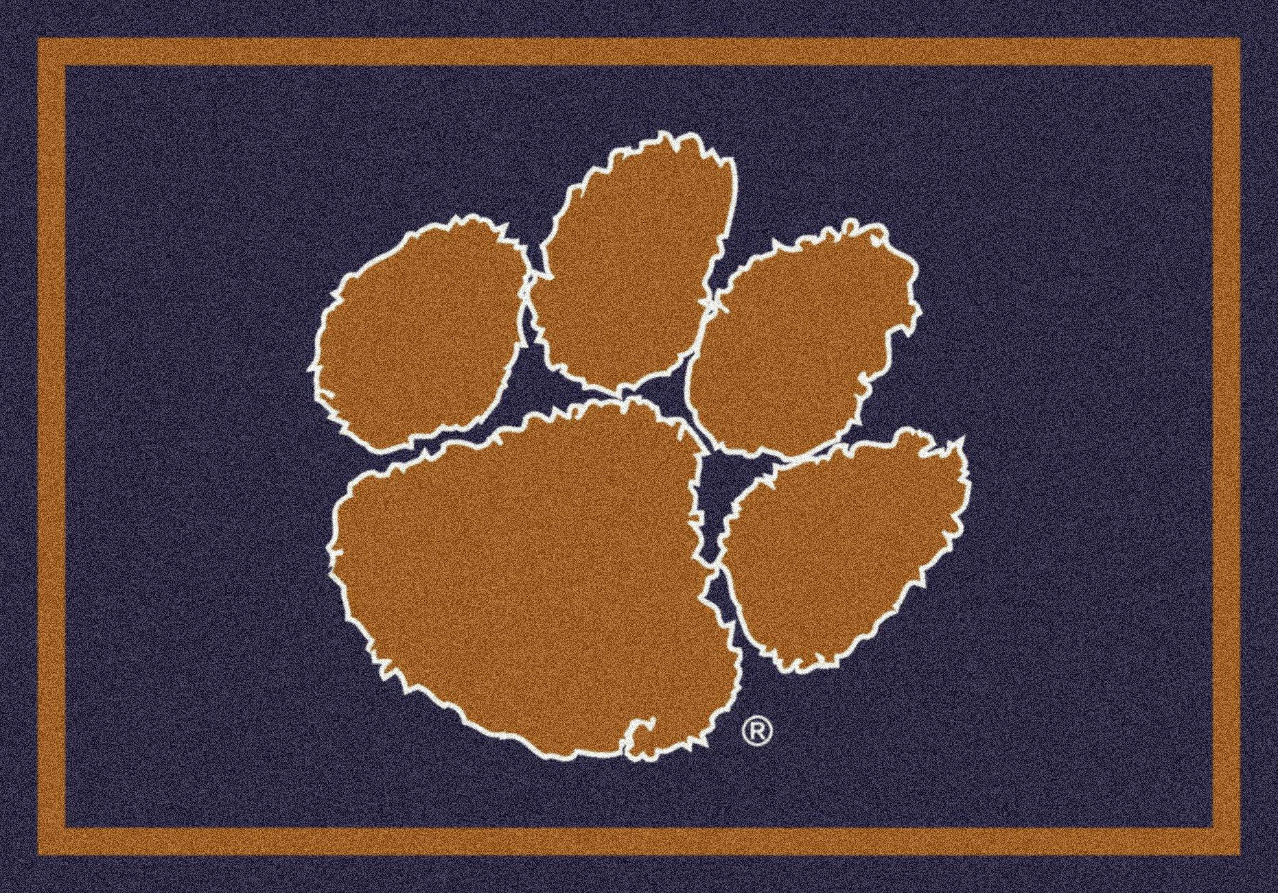 Clemson Tigers NCAA College Team Spirit Team Area Rug 2'8''x3'10''