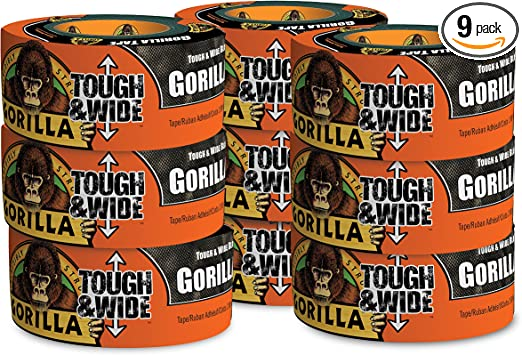 Gorilla Duct Tape Roll 30yd Wide Black Toughest Indoor /& Weather Resistant New
