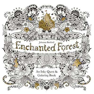 GOTICAL Enchanted Forest Coloring Book for Adults Stress Dismissing Flowers Leaf Animals, Scenery & Mandalas Designs Activity Books for Adults Premium Coloring for Adults - 84 Pages: Toys & Games