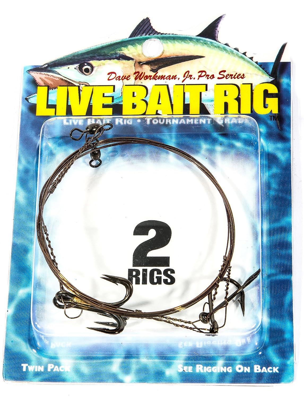 1# 2 Treble Hook Boone Single Hook 2//0 Live Bait Rig Pack of 2
