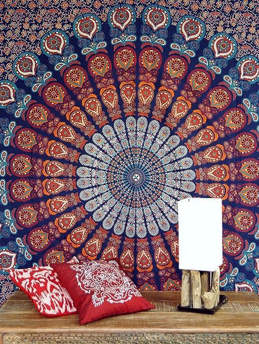 Guru-Shop India Mandala Bufanda, Toalla de Pared, Colcha Mandala ...