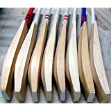 Wonberry Plain Light Weight English Willow Cricket Bat T20 Format Big Edges 40-44mm