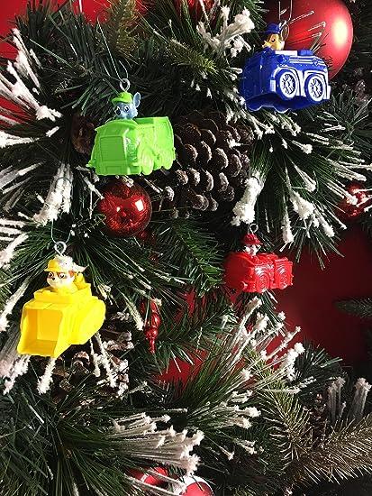 paw patrol christmas tree ornaments on vehicles - Paw Patrol Christmas Tree Decorations