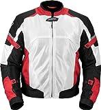Pilot Motosport Men's Direct Air Mesh Motorcycle Jacket (V3) (White, Large)