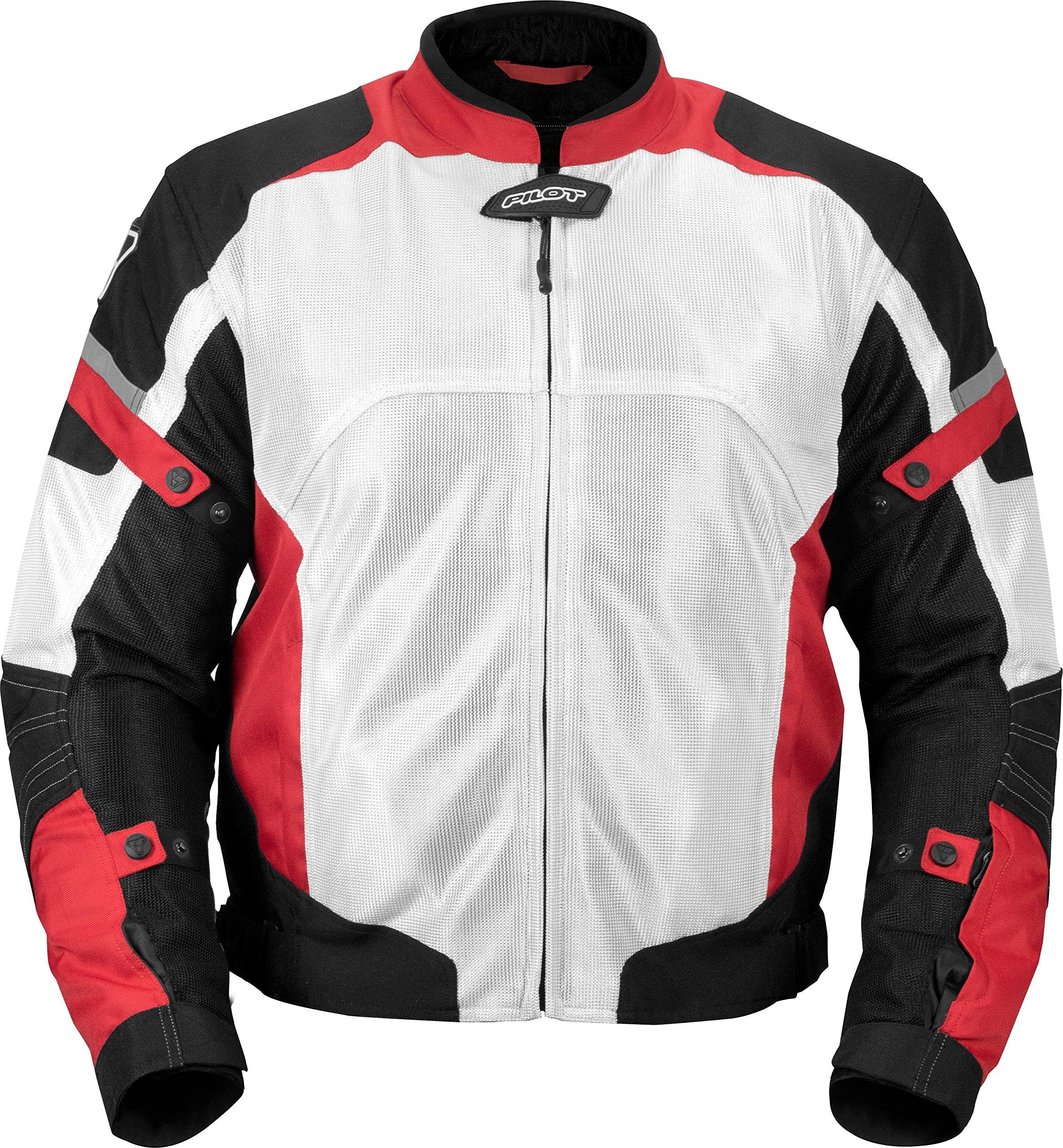 Pilot Motosport Men's Direct Air Mesh Motorcycle Jacket (V3) (White, XXX-Large)