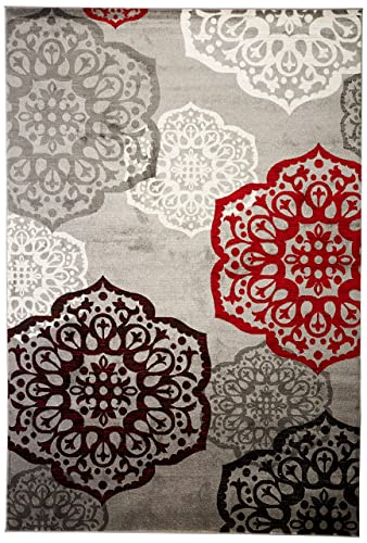 Summit S10 New Area Rug Modern Abstract Rug , 8×10 actual is 7 .4 x10 .6